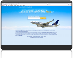 Get a $1000 Continental Airlines Gift Certificate For Free!