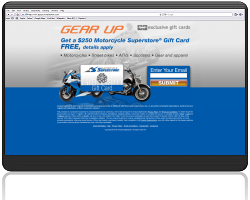 Get a $250 Motorcycle Superstore Gift Card For Free!