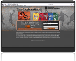 Get a $250 NBA Store Gift Card Plus a Player's Jersey!