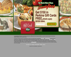 Get a $150 Perkins Restaurant and Bakery Gift Card For Free