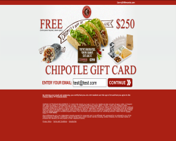 Get a $250 Chipotle Gift Card For Free