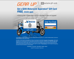Get a $250 Motorcycle Superstore Gift Card For Free