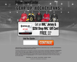 Get an NHL Jersey & $250 Shop.NHL.com Gift Card For Free