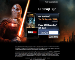 Get Star Wars: The Old Republic and $250 GameStop Gift Card For Free