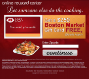 Get a $250 Boston Market Gift Card For Free!