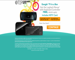 Get a Logitech Revue and HDTV Video Cam For Free