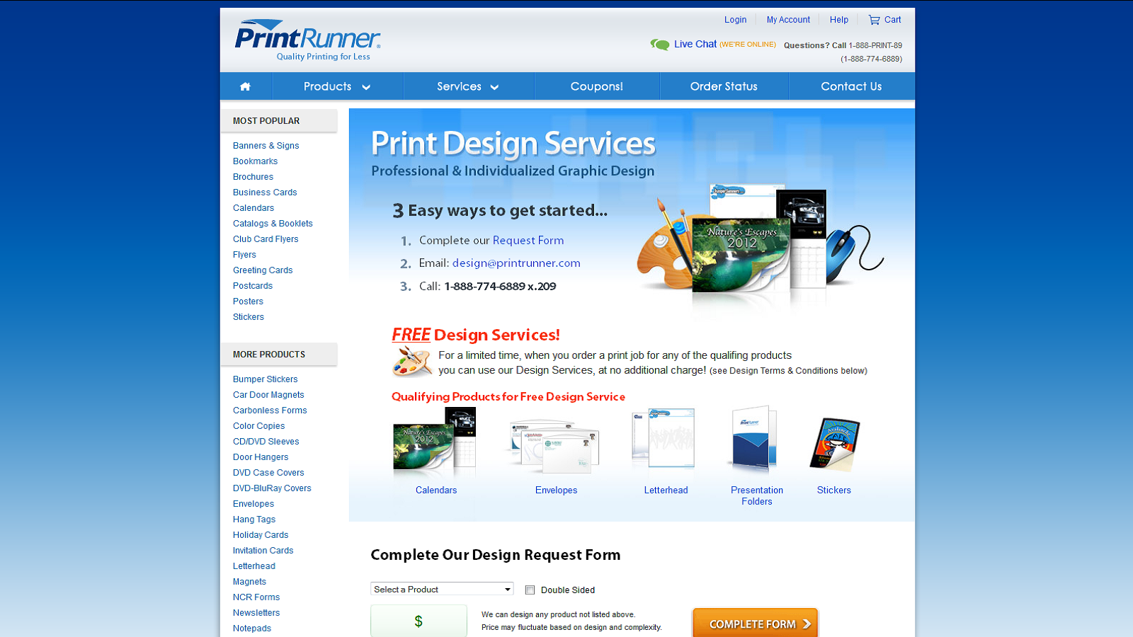 Get Free Design Services On Digital Printing