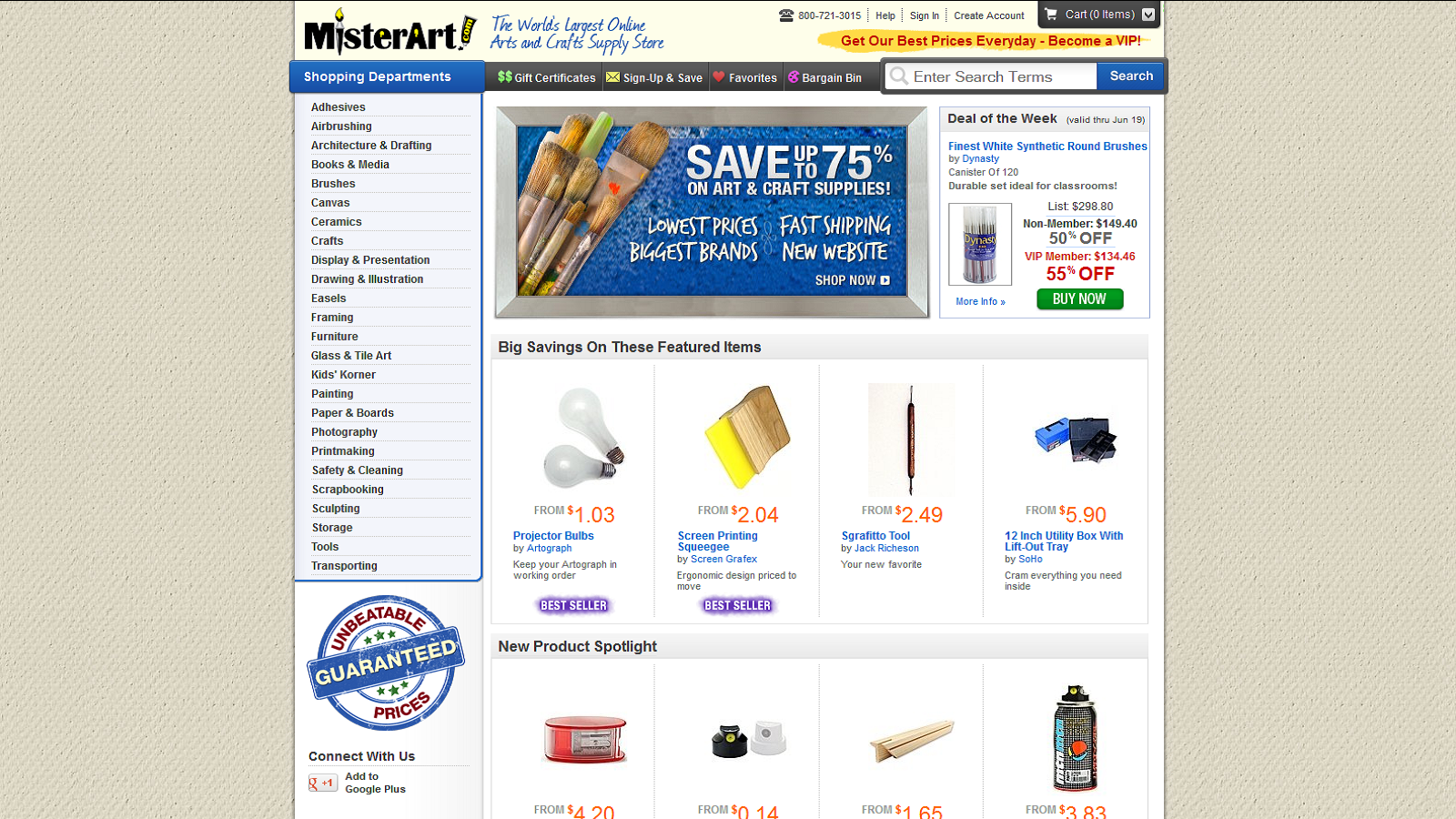 Save Up To 75% On Art Supplies