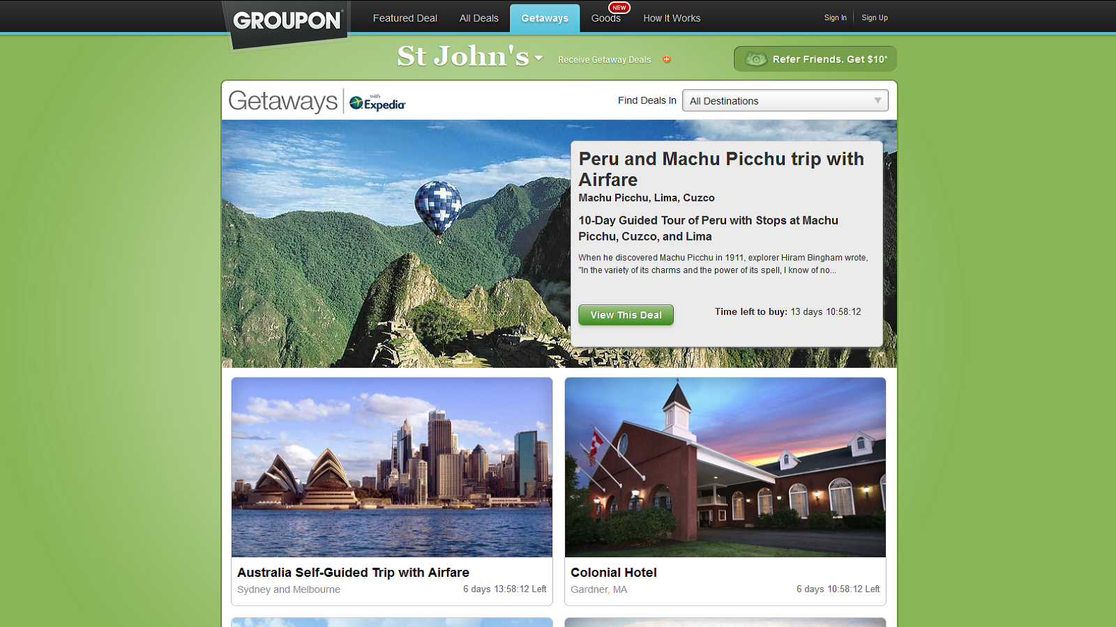 Best Getaway Deals Online