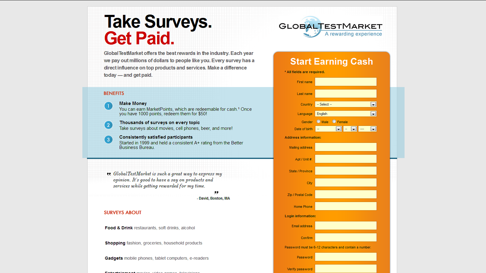 Complete Online Surveys and Earn Cash
